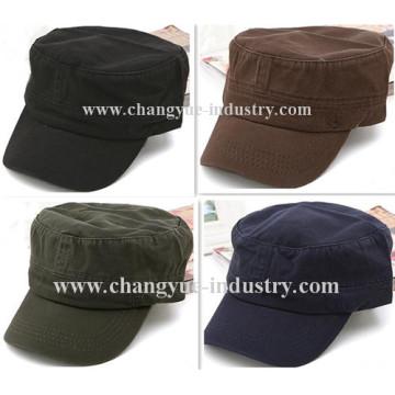 Fashion Hats Baseball Professional wholesale flat top plain army cap Adjustable Caps