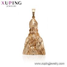 33581xuping longue barbe vieil homme figure statue religieuse pendentif dessins