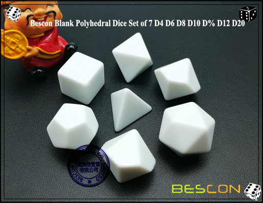Blank Polyhedral Dice (1)