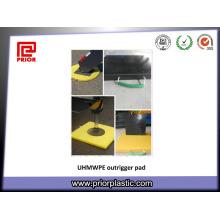Folha de UHMWPE para almofadas de Outrigger em 400x400 mm