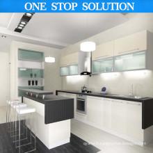 Style européen L Forme Design classique Cabinet de cuisine en PVC