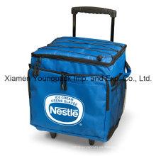 Custom impreso plegable 48-puede aislado bolsa de refrigerador de trole