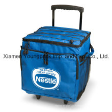 Custom Printed Collapsible 48-Can Insulated Trolley Cooler Bag