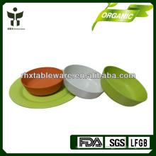 Fibra de bambu camping conjunto de dinnerware