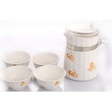 Hochwertiger Keramikkessel mit 4 Cups