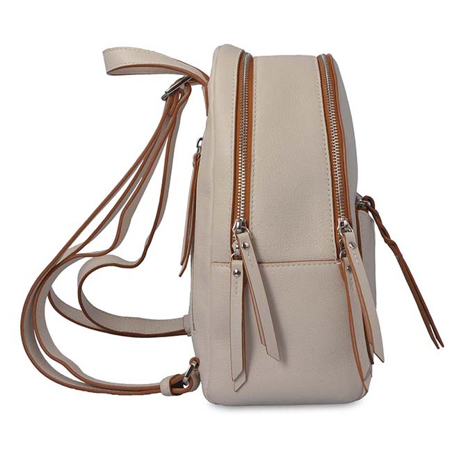 leather women backpack portable fashion travelling backpack with coin purse