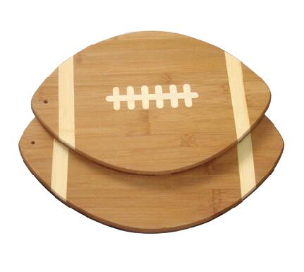 Rugby Shape Bamboo Cutting Board