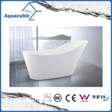 Bathroom White Free-Standing Acrylic Bathtub (AB6828)