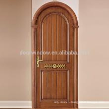 Американские импортные красные дубовые двери деревянные Простые Панели Роскошный дом Спальня Интерьер Деревянные Двери