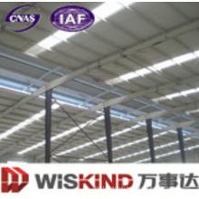 Instale rápidamente un edificio de estructura de acero con material para paredes y techos