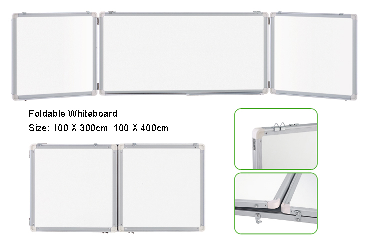 Foldable Whiteboard With 3 Pcs