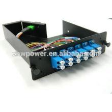 MPO LGX Cassette LC SM Duplex Cordon de raccordement à fibre optique 12 core