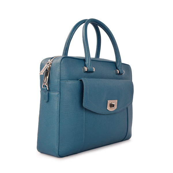 Women fashion leather top handle business tote bag
