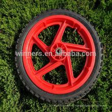 Roue solide en plastique de 14 pouces / roue de bicyclette en plastique