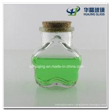 100ml Flower Shape Cork Lid Candy Honey Glass Jar