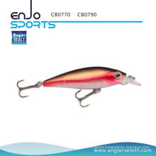 Angler Select Minnow Crankbait Shallow Fishing Tackle Lure with Vmc Treble Hooks (CB0790)