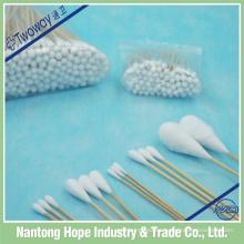 hisopo oral de palo de algodón estéril de hospital
