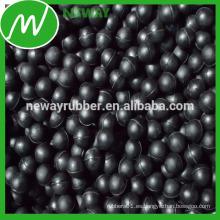 Fábrica directa venta Personalizar bola de goma negro pelota bola de neopreno