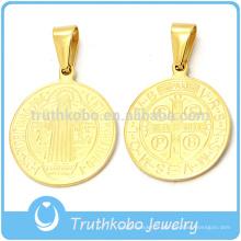 316l Stianless Steel Saint Benedict - Médaille religieuse au jubilé rond