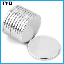 Ni-Cu-Ni Revêtement N50 Strong NdFeB Disc Permanent Magnet