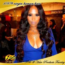Лучшее качество 7А класс Оптовая продажа человеческих волос девственницы бразильские волос полный парик шнурка