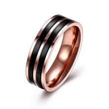 Art- und Weiseschmucksache-einfacher doppelter Farben-Edelstahl-Ring für Mann-Edelstahl-Ring