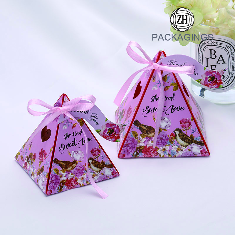 Handmade Geometric color paper candy box