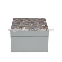 CPN-WPSBS Природные ремесленные изделия Розовый контейнер для хранения снарядов с белой краской