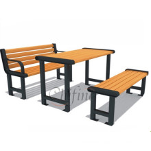 Cast Outdoor Furniture Table Bench with Cast Iron Legs