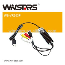 USB 2.0 Video Grabber with Audio Video screen capture, USB 2.0 Plug & Play Interface