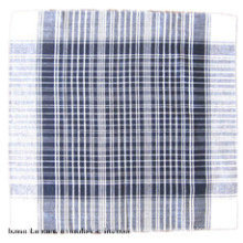 Customized Logo Printed Yarn Dyed Cotton Checked Men′s Handkerchief