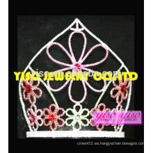 """8 """"tiara oriental del día de fiesta de la flor de la flor de la manera alta"""