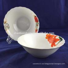 """7 """"personalizado impreso decalera frutero de cerámica"""