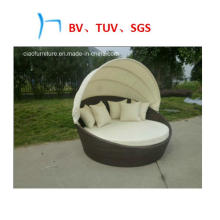 Outdoor Furniture Rattan Furniture with Canopy Leisure Day Bed (GB-10)
