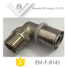 EM-F-B145 igual diâmetro 90 graus conector duplo passe pex al pex cotovelo