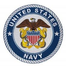 Вышитая нашивка ВМС США