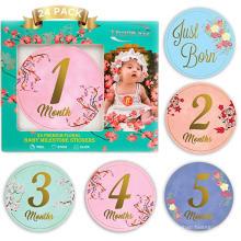 Alta qualidade gravidez bebê menino mês 1-12 mensais bebê marco milestone