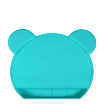 Food Grade Bear Shape Silicone Suction Placemat