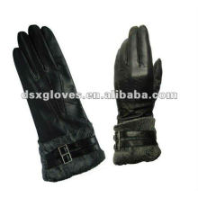 High quality Leather Gloves with fur on the wrist