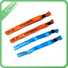 Sublimated Colorful Design Fabric Wristbands for Musical Event