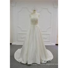 Vestido de boda rebordear pesado transparente atractivo Alibaba vestido de novia A-Line