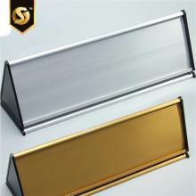 Suporte de mesa de perfil de alumínio Placa de identificação de mesa