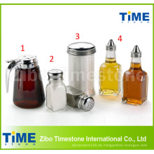 Luftdichte klare Glas-Salz-Soße-Öl-Flasche