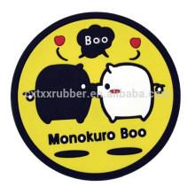 soft pvc cup coaster, cute pvc round coaster