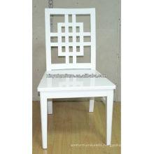White wooden restaurant banquet chair XYD176