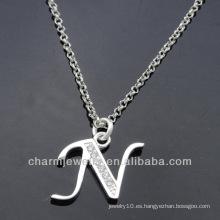 Nuevos encantadores al por mayor encantos N PCC-003 del alfabeto del diseño