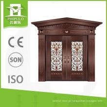 Projetos de imitação de cobre da porta principal da casa de campo do estilo luxuoso