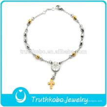 El rosario curativo magnético de la salud del acero inoxidable de la nueva llegada gotea las pulseras para la venta al por mayor