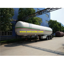 56cbm Tri-axle Propane Gas Transport نصف مقطورة