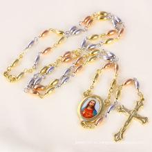 Collar cruzado de Jesús de tres colores